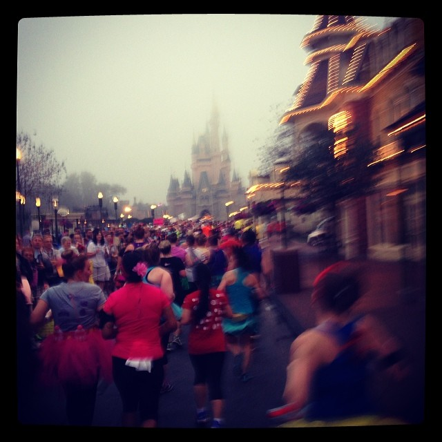 the view of cinderella's castle -- one of the most amazing moments of this race!!!!