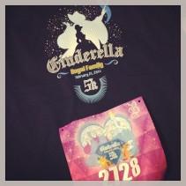cinderella's royal family 5k shirt and bib!