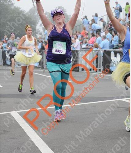 the happiest moment of my runner existence!!!  i was bawling -- and so wishing that my husband was there to see me!
