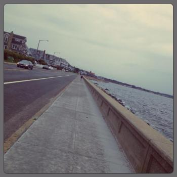 the seawall -- getting closer