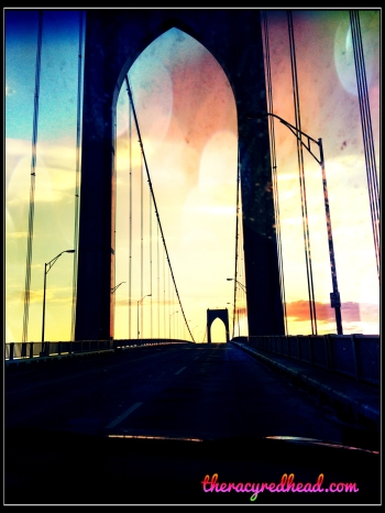 newport bridge -- on our way!