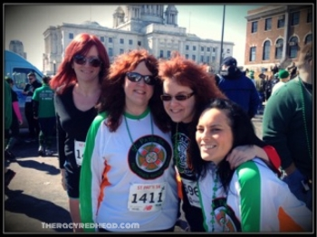 this was my first team run -- some of my team -- the redheaded posse!