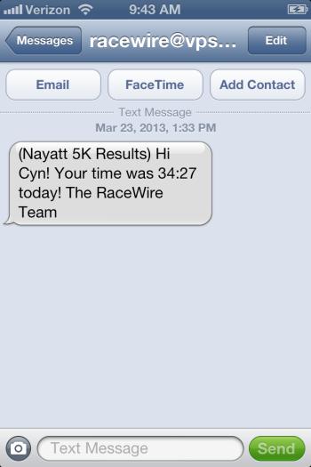 my results!