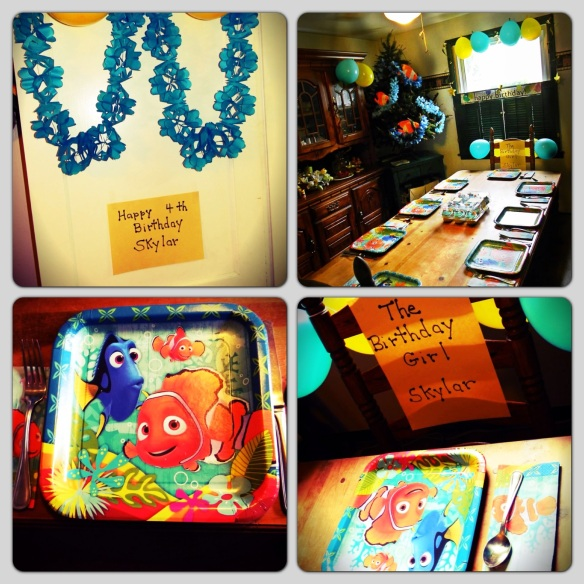 family party -- the decorations -- finding nemo OF COURSE!