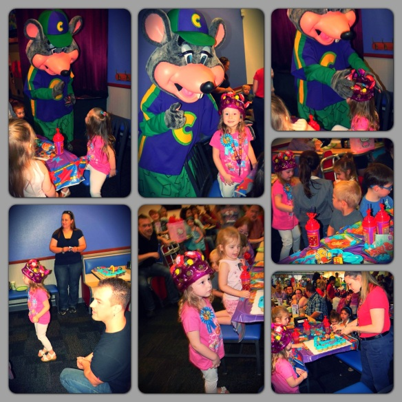 getting the royal bday treatment chuck e. cheese style!