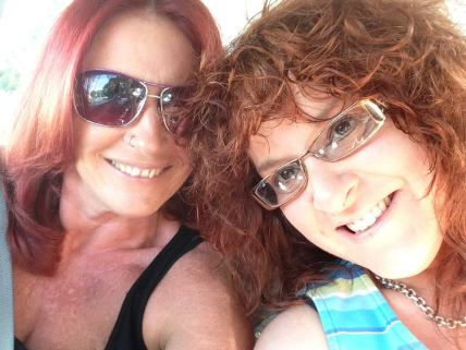 hitting the road to hampton beach with my bestie -- redheaded posse road trip!