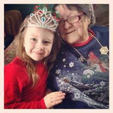 my little christmas angel and my grandmother ♥♥♥