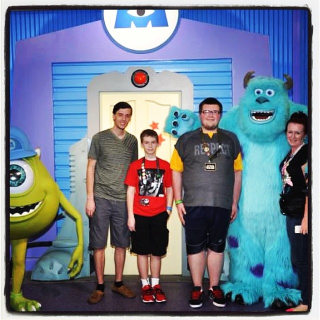 the boys and i meet sully and mike -- skylar was terrified lol!