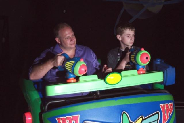 cameron & dean on the toy story ride ♥♥