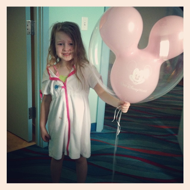 "the saddest moment -- skylar having to say goodbye to her ""balloon in a balloon"" -- sadly there was no way we could've taken it on the flight home..."