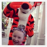 TIGGER -- love her face in this pic -- he tapped her on the shoulder and when she turned around she was in love ♥