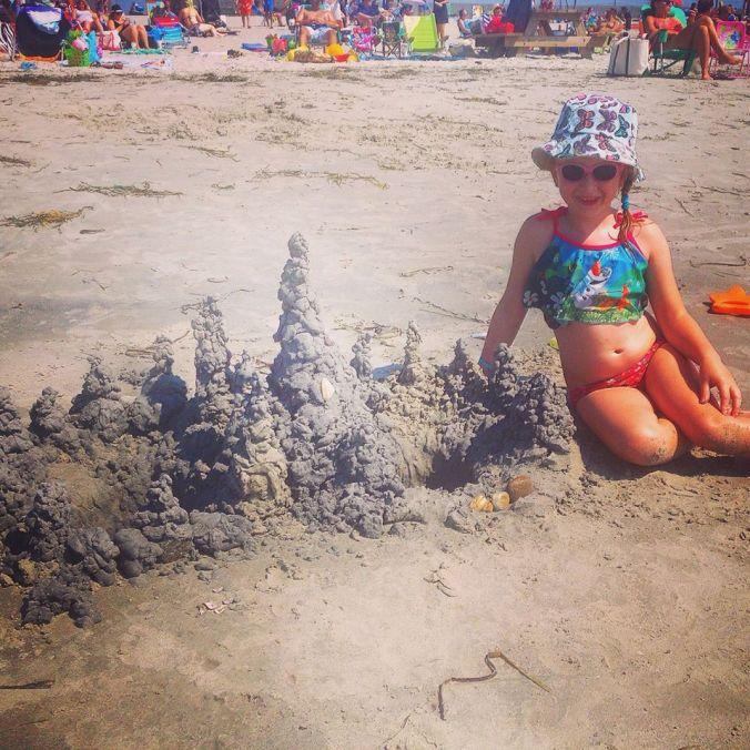 OUR EPIC SANDCASTLE!